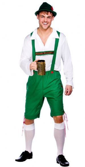 Plus size Bavarian Oktoberfest Guy costume